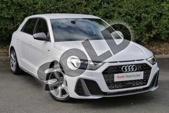 Audi A1 40 TFSI S Line Competition 5dr S Tronic in Glacier White Metallic at Worcester Audi