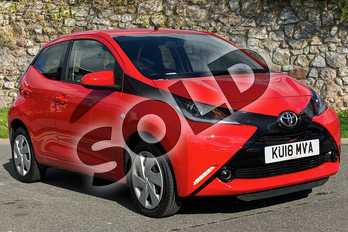Toyota AYGO 1.0 VVT-i X-Play 5dr in Red at Listers Toyota Nuneaton