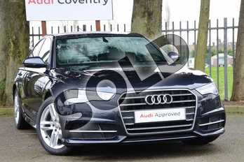 Audi A6 2.0 TDI Ultra S Line 4dr S Tronic in Moonlight Blue Metallic at Coventry Audi