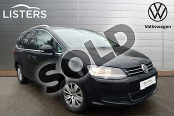 Volkswagen Sharan 2.0 TDI CR BlueMotion Tech 150 SE Nav 5dr DSG in Deep black at Listers Volkswagen Coventry