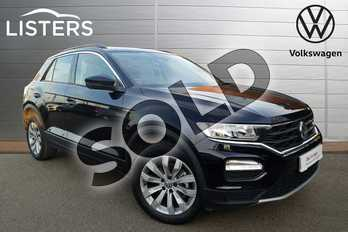 Volkswagen T-Roc 1.5 TSI EVO SE 5dr in Deep black at Listers Volkswagen Coventry