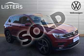 Volkswagen Tiguan 2.0 TDI 150 SE Nav 5dr in Ruby Red at Listers Volkswagen Stratford-upon-Avon