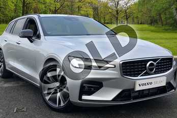 Volvo V60 2.0 T5 R DESIGN 5dr Auto in Bright Silver at Listers Volvo Worcester