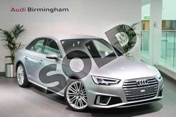 Audi A4 35 TDI S Line 4dr S Tronic in Floret Silver Metallic at Birmingham Audi
