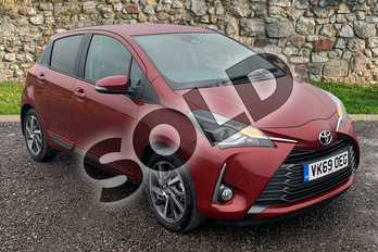 Toyota Yaris 1.5 VVT-i Y20 5dr (Bi-tone) in Red at Listers Toyota Stratford-upon-Avon