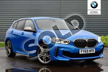 BMW 1 Series M135i xDrive 5dr Step Auto in Misano Blue metallic at Listers Boston (BMW)