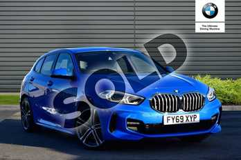 BMW 1 Series 118i M Sport 5dr in Misano Blue metallic at Listers Boston (BMW)