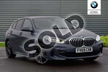 BMW 1 Series 118d M Sport 5dr Step Auto in Storm Bay metallic at Listers Boston (BMW)
