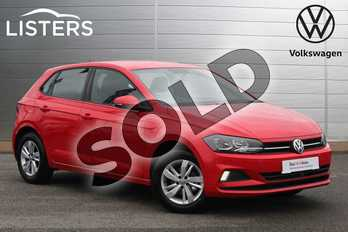 Volkswagen Polo 1.0 TSI 95 SE 5dr in Flash Red at Listers Volkswagen Nuneaton