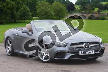 Mercedes-Benz SL Class Convertible SL 400 AMG Line 2dr 9G-Tronic in Selenite Grey Metallic at Mercedes-Benz of Boston