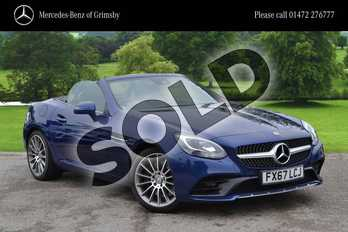 Mercedes-Benz SLC Roadster SLC 200 AMG Line 2dr 9G-Tronic in Brilliant Blue metallic at Mercedes-Benz of Grimsby
