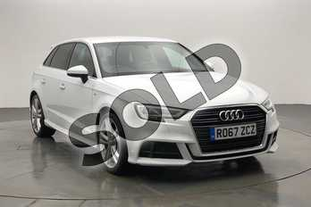 Audi A3 1.5 TFSI S Line 5dr in Glacier White Metallic at Worcester Audi