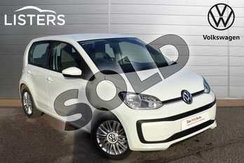 Volkswagen Up 1.0 Move Up 5dr in Pure white at Listers Volkswagen Loughborough