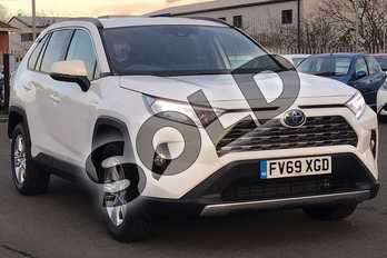 Toyota RAV4 2.5 VVT-i Hybrid Icon 5dr CVT 2WD in Pure White at Listers Toyota Lincoln