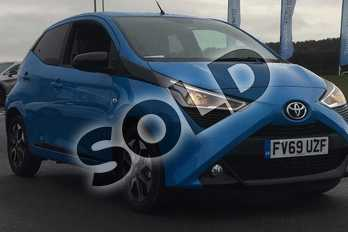 Toyota AYGO 1.0 VVT-i X-Trend 5dr in Cyan Splash at Listers Toyota Lincoln