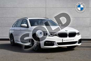 BMW 5 Series 530d M Sport 5dr Auto in Alpine White at Listers Boston (BMW)