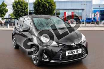 Toyota Yaris 1.5 VVT-i Y20 5dr (Bi-tone) in Eclipse Black at Listers Toyota Cheltenham