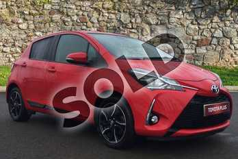 Toyota Yaris 1.5 VVT-i Design 5dr in Red at Listers Toyota Stratford-upon-Avon