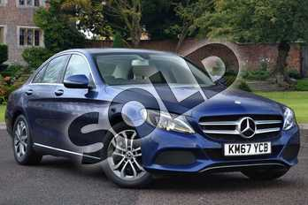 Mercedes-Benz C Class C200 Sport Premium 4dr 9G-Tronic in brilliant blue metallic at Mercedes-Benz of Lincoln
