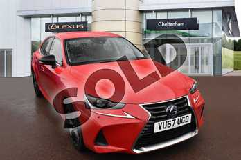 Lexus IS 300h Sport 4dr CVT Auto in Fuji Red at Lexus Cheltenham