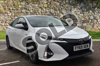 Toyota Prius 1.8 PHEV Excel 5dr CVT in Pure White at Listers Toyota Boston