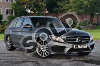 Mercedes-Benz C Class Diesel C220d AMG Line Premium 5dr 9G-Tronic in Selenite Grey Metallic at Mercedes-Benz of Lincoln