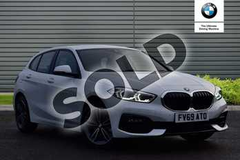 BMW 1 Series 118i Sport 5dr Step Auto in Alpine White at Listers Boston (BMW)