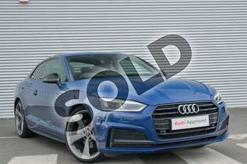 Audi A5 40 TDI Black Edition 2dr S Tronic in Ascari Blue Metallic at Coventry Audi