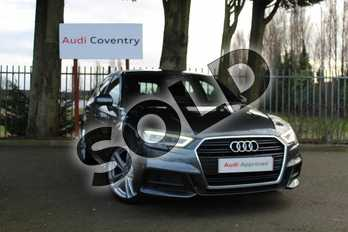 Audi A3 30 TDI 116 S Line 5dr in Daytona Grey Pearlescent at Coventry Audi