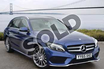 Mercedes-Benz C Class Diesel C250d AMG Line Premium 5dr Auto in Brilliant Blue Metallic at Mercedes-Benz of Hull