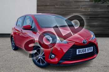Toyota Yaris 1.5 VVT-i Icon Tech 5dr in Chilli Red at Listers Toyota Grantham