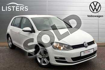 Volkswagen Golf 2.0 TDI Match 5dr in Pure white at Listers Volkswagen Loughborough