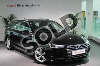 Audi A4 2.0 TDI Ultra 190 Sport 5dr S Tronic in Myth Black Metallic at Birmingham Audi