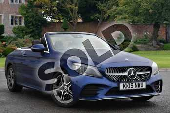 Mercedes-Benz C Class Diesel C300d AMG Line Premium 2dr 9G-Tronic in brilliant blue metallic at Mercedes-Benz of Lincoln