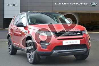 Land Rover Discovery Sport Diesel SW 2.0 TD4 180 HSE Black 5dr Auto in Firenze Red at Listers Land Rover Hereford