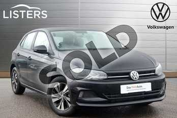 Volkswagen Polo 1.0 TSI 95 SE 5dr in Deep black at Listers Volkswagen Leamington Spa