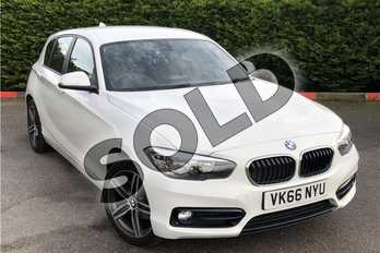 BMW 1 Series 116d Sport 5dr in Solid - Alpine white at Listers U Boston