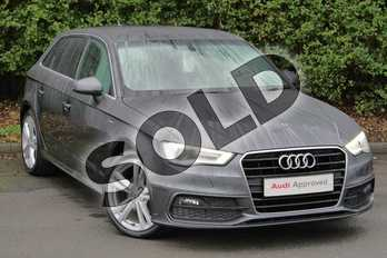 Audi A3 1.4 TFSI 150 S Line 5dr S Tronic (Nav) in Daytona Grey Pearlescent at Worcester Audi