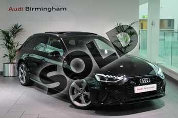 Audi A4 45 TFSI Quattro Black Edition 5dr S Tronic in Myth Black Metallic at Birmingham Audi