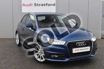 Audi A1 1.4 TFSI S Line 3dr in Scuba Blue Metallic at Stratford Audi