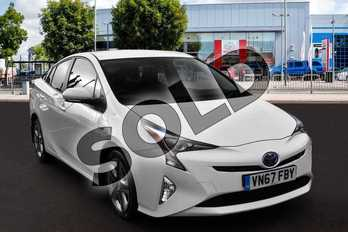 Toyota Prius 1.8 VVTi Business Edition Plus 5dr CVT in Pure White at Listers Toyota Cheltenham