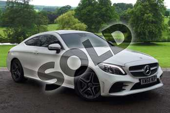 Mercedes-Benz C Class Diesel C300d AMG Line Premium 2dr 9G-Tronic in designo Diamond White Bright at Mercedes-Benz of Grimsby