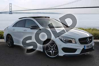 Mercedes-Benz CLA Class CLA 220 CDI AMG Sport 4dr Tip Auto in Cirrus white at Mercedes-Benz of Hull