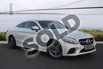 Mercedes-Benz C Class Diesel C300d AMG Line Premium 2dr 9G-Tronic in designo Diamond White Bright at Mercedes-Benz of Hull