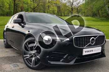 Volvo V90 2.0 T8 (390) Hybrid R DESIGN Plus 5dr AWD Gtron in Onyx Black at Listers Volvo Worcester
