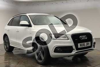 Audi Q5 Special Editions 2.0 TDI (190) Quattro S Line Plus 5dr S Tronic in Glacier White, metallic at Worcester Audi