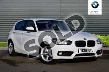 BMW 1 Series 116d EfficientDynamics Plus 5dr in Alpine White at Listers Boston (BMW)