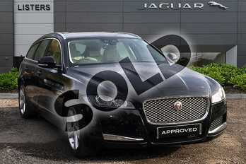 Jaguar XF 2.0i Portfolio 5dr Auto in Narvik Black at Listers Jaguar Solihull