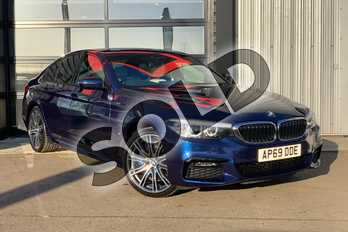 BMW 5 Series 530e M Sport 4dr Auto in Mediterranean Blue at Listers King's Lynn (BMW)