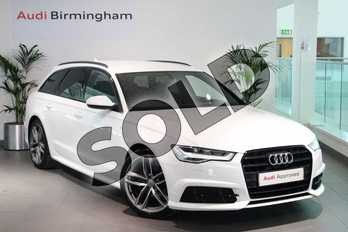 Audi A6 2.0 TDI Ultra Black Edition 5dr S Tronic in Ibis White at Birmingham Audi